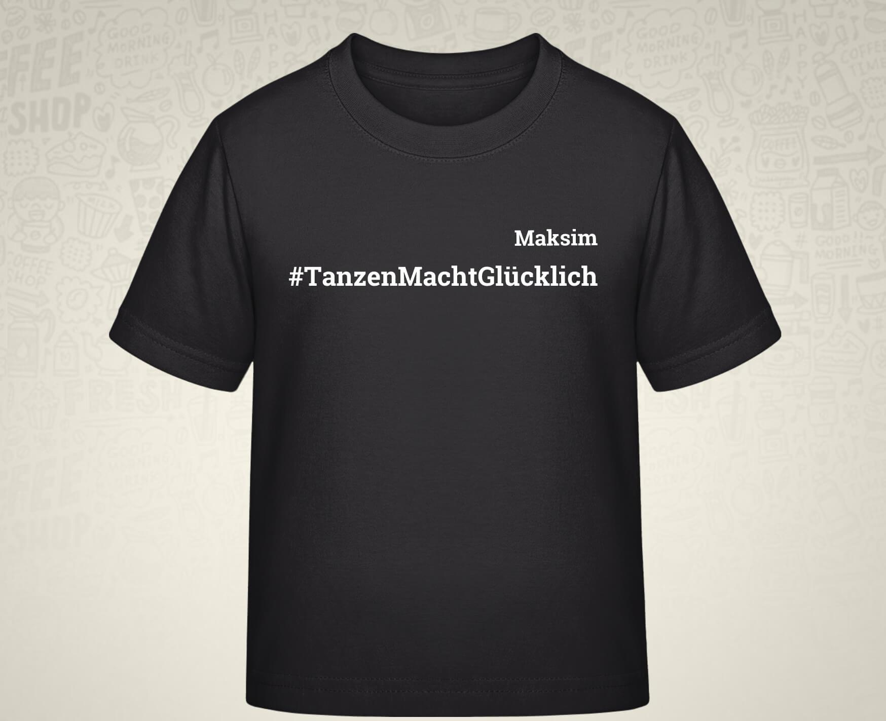 #TanzenMachtGlücklich T-Shirt für Kids in schwarz